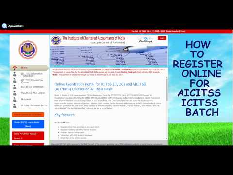 How to Register for ICITSS & AICITSS Batches Online ICAI