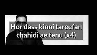 Tareefan Song Lyrics   Veree DDi Weeding   Qaran Ft. Badshah  