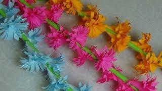 Оригами Цветы Из Бумаги. Как Сделать веточку Цветов Из Бумаги. Своими Руками Подарок Маме
