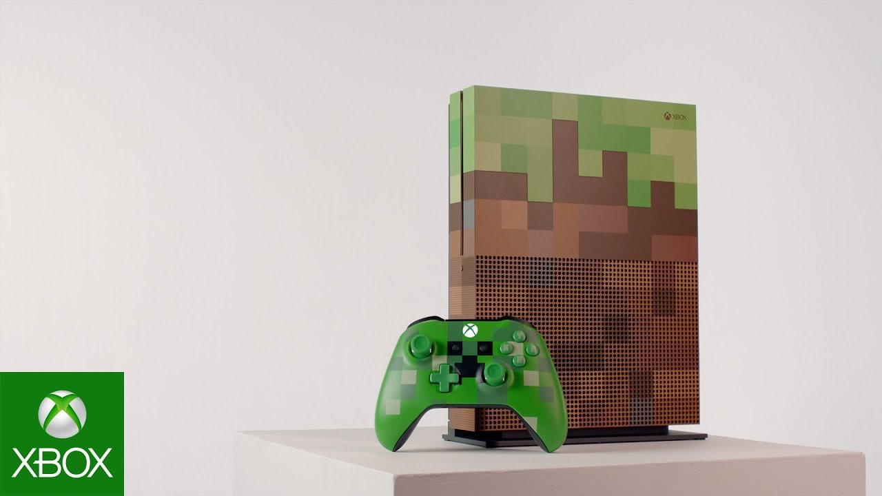 Xbox One S Minecraft Limited Edition – Gamescom 2017 – 4K Reveal .