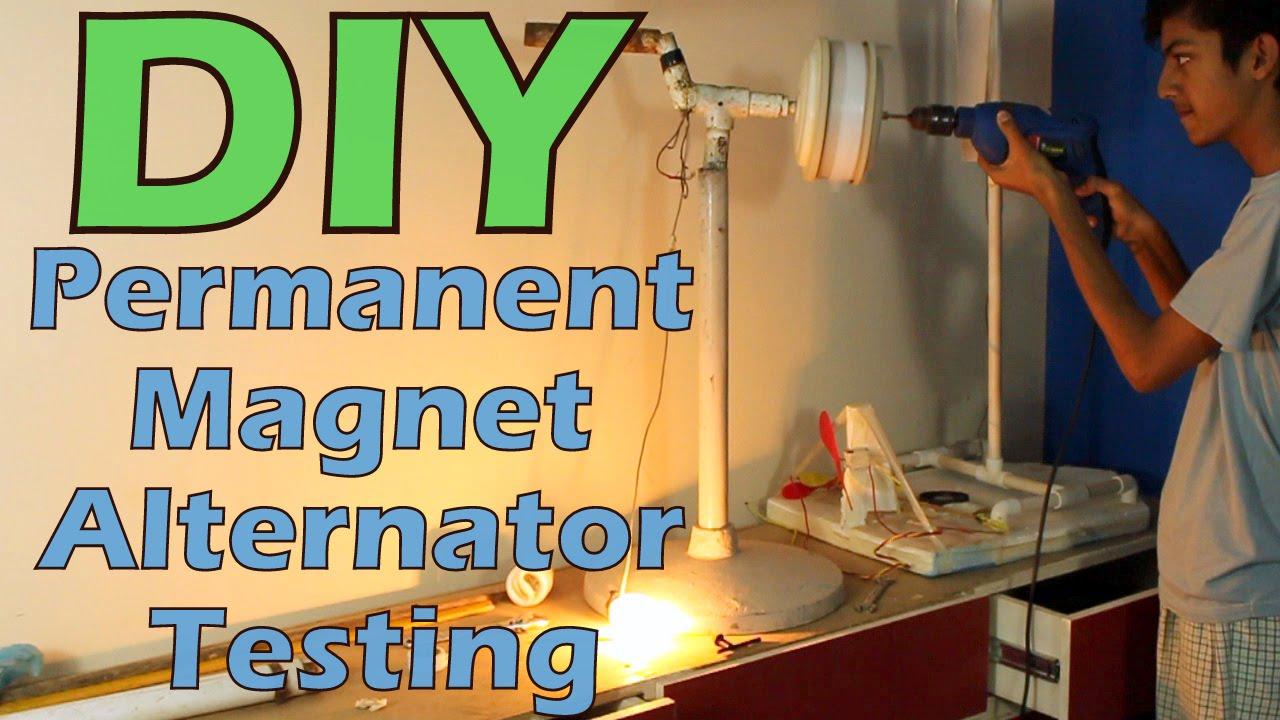 Diy permanent magnet alternator generator testing youtube solutioingenieria Choice Image