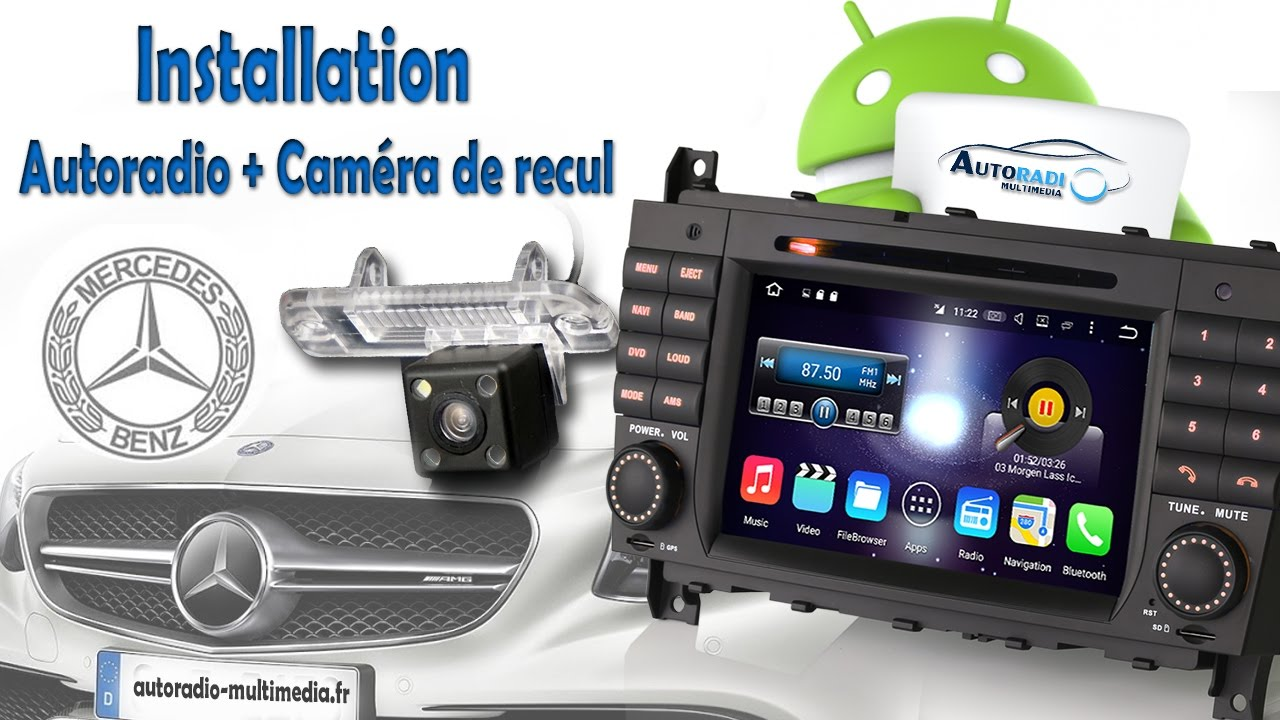 installation autoradio et cam ra de recul sur mercedes partie 1 youtube. Black Bedroom Furniture Sets. Home Design Ideas