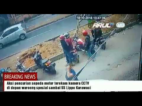 Aksi pencurian sepeda motor terekam CCTV di Karawaci