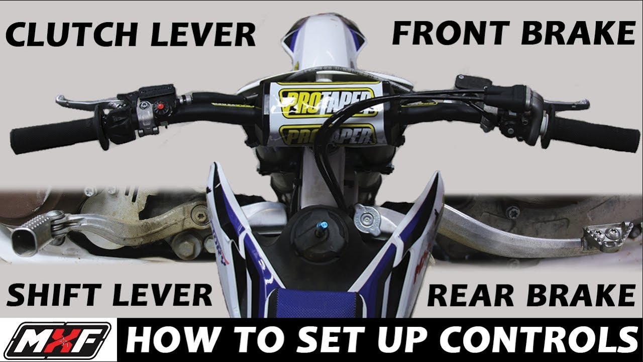 How to Set Up Handlebars & Basic Dirt Bike Controls - Best Motocross Tips  to Ride Like a Pro!!