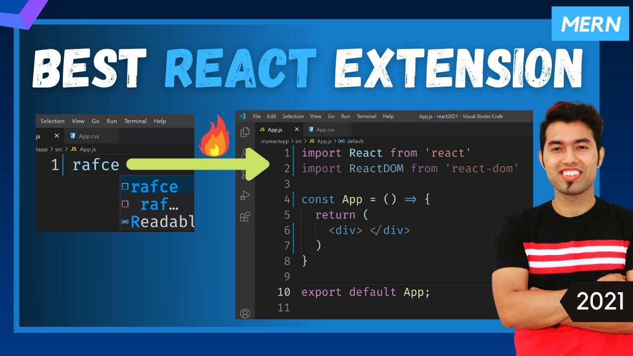 Best React JS Extension for Visual Studio Code in 2021
