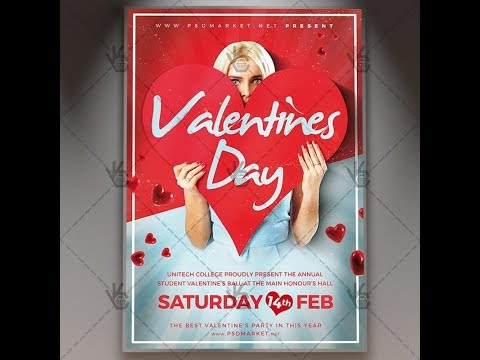 Valentines Day Love Notes - Flyer PSD Template
