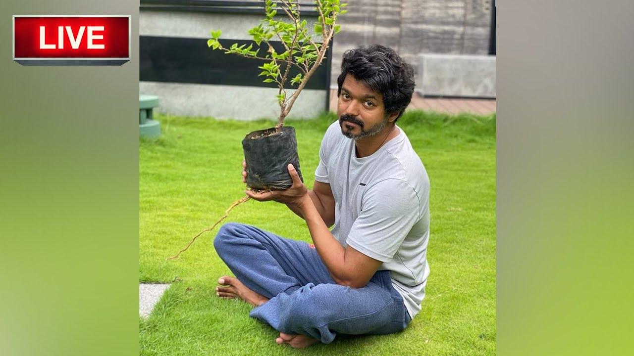 🛑Live - Thalapathy Vijay Accept Mahesh Babu Challenge  |  Plant Sapling |  Green India  |  Master F