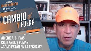 AMÉRICA, CHIVAS, CRUZ AZUL y PUMAS: ¿Cómo están en la fecha 6?   Javier Alarcón