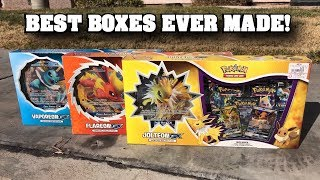 Opening ALL THREE *BRAND NEW* Pokemon Card GX Boxes Featuring ALL KANTO EEVEELUTIONS!