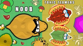 NOOB Takes REVENEGE on TOXIC TEAMERS of MOPE.IO