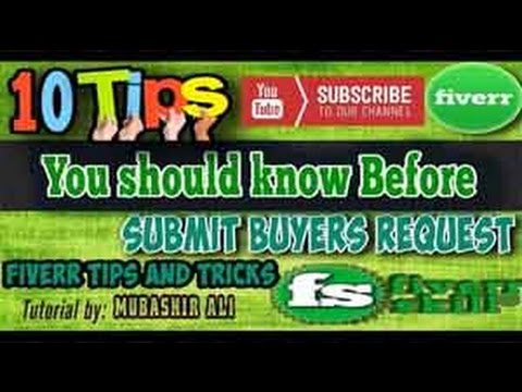 10 Tips Must know before Sending Buyer Request on Fiverr