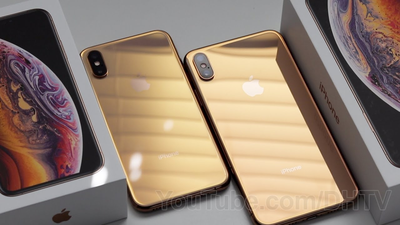 Gold Iphone Xs And Iphone Xs Max Unboxing First Boot Comparison And Accessories