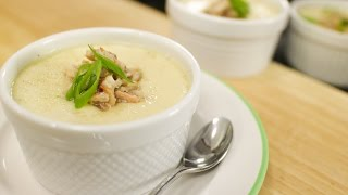 Steamed Egg With Crab & Mushrooms - Hot Thai Kitchen!