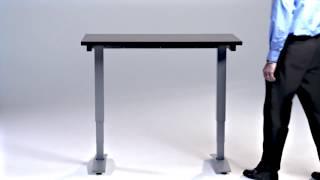 Ki Workup Adjustable Table Demo - Counterbalance Height Adjustment
