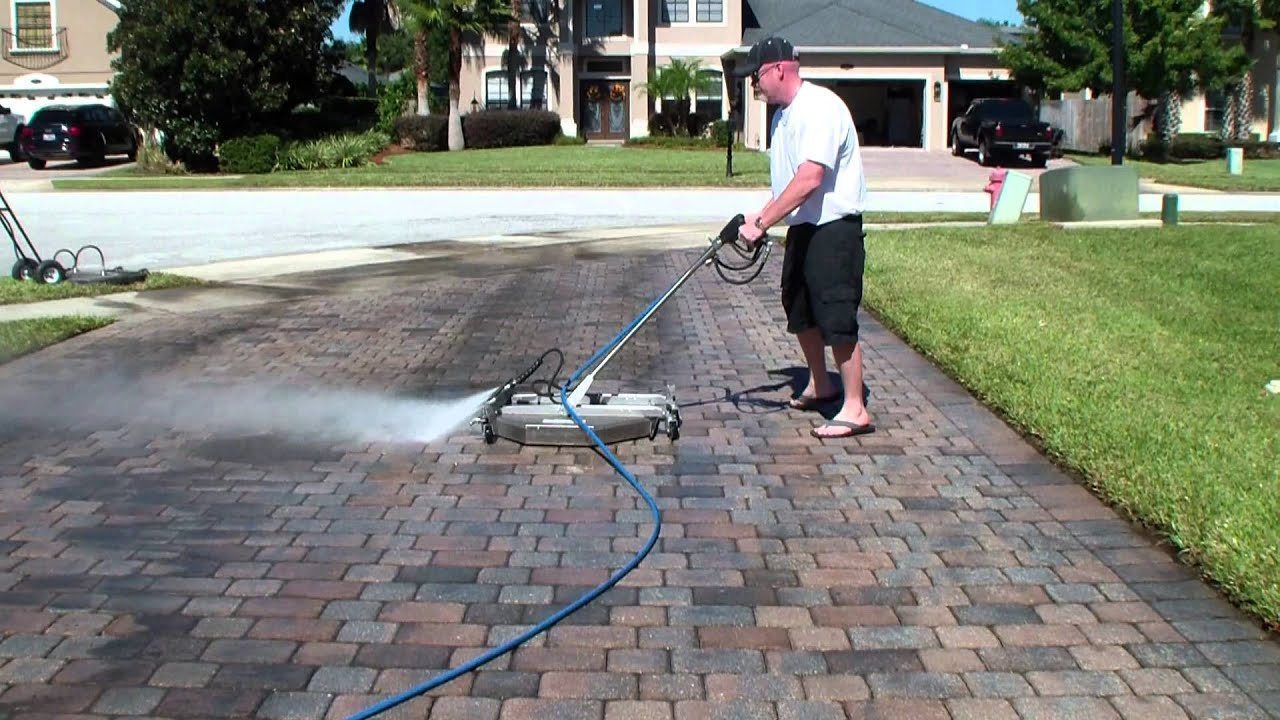 Ant4c high speed surface cleaner 39 s water broom for Driveway pressure washer