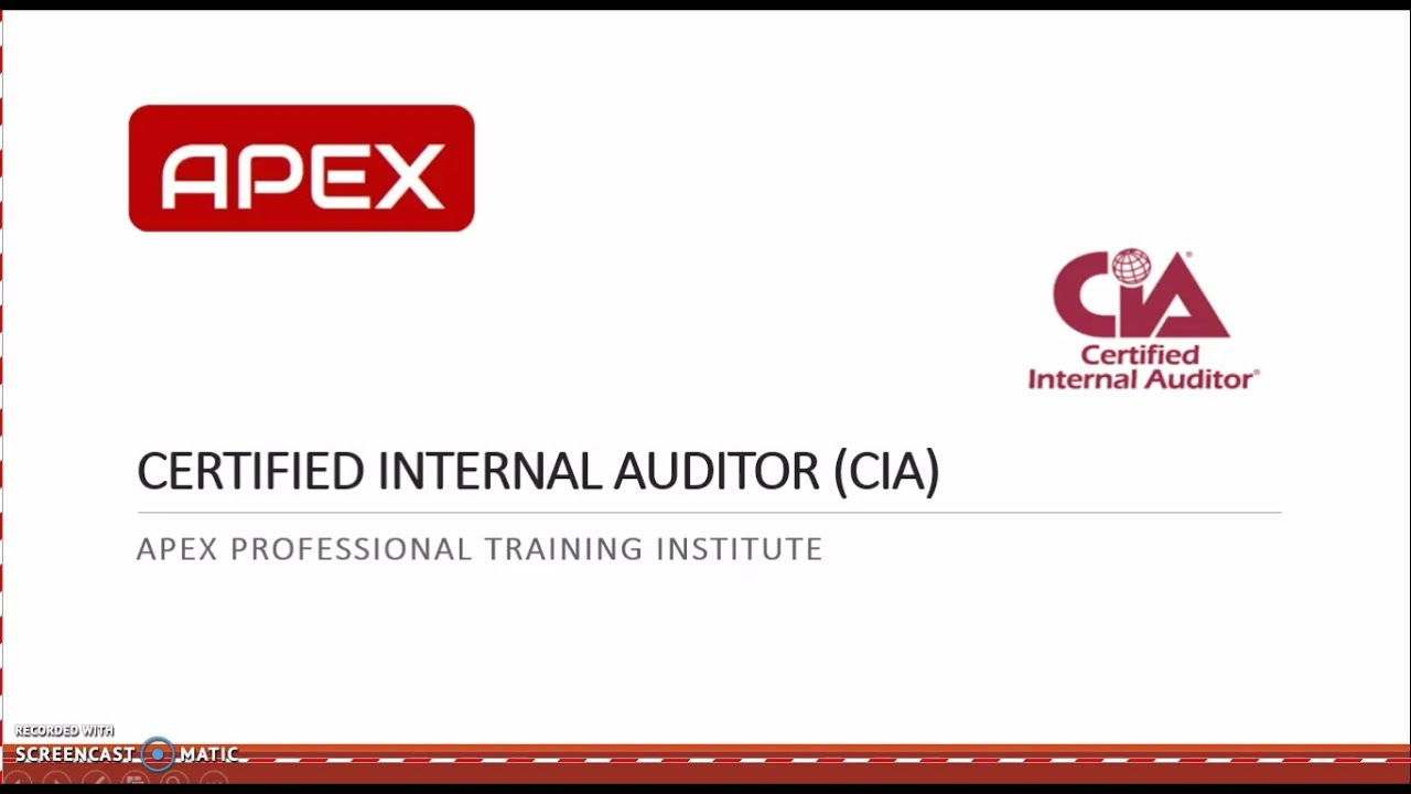 What Is Certified Internal Auditor Cia Us Youtube