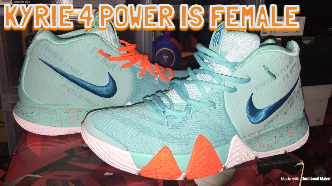 d2eb34d466ef Nike Kyrie 4 Power Is Female Review   Lit On Feet!! - YouTube