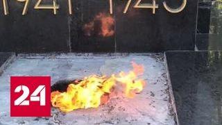 В Харькове снова осквернили могилу маршала Бажанова и братское захоронение
