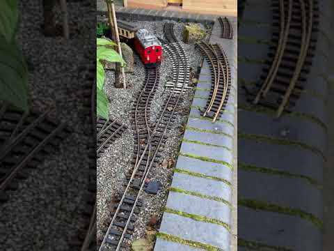 G scale train layout.