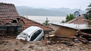 Serbia floods threaten hydro-power plant