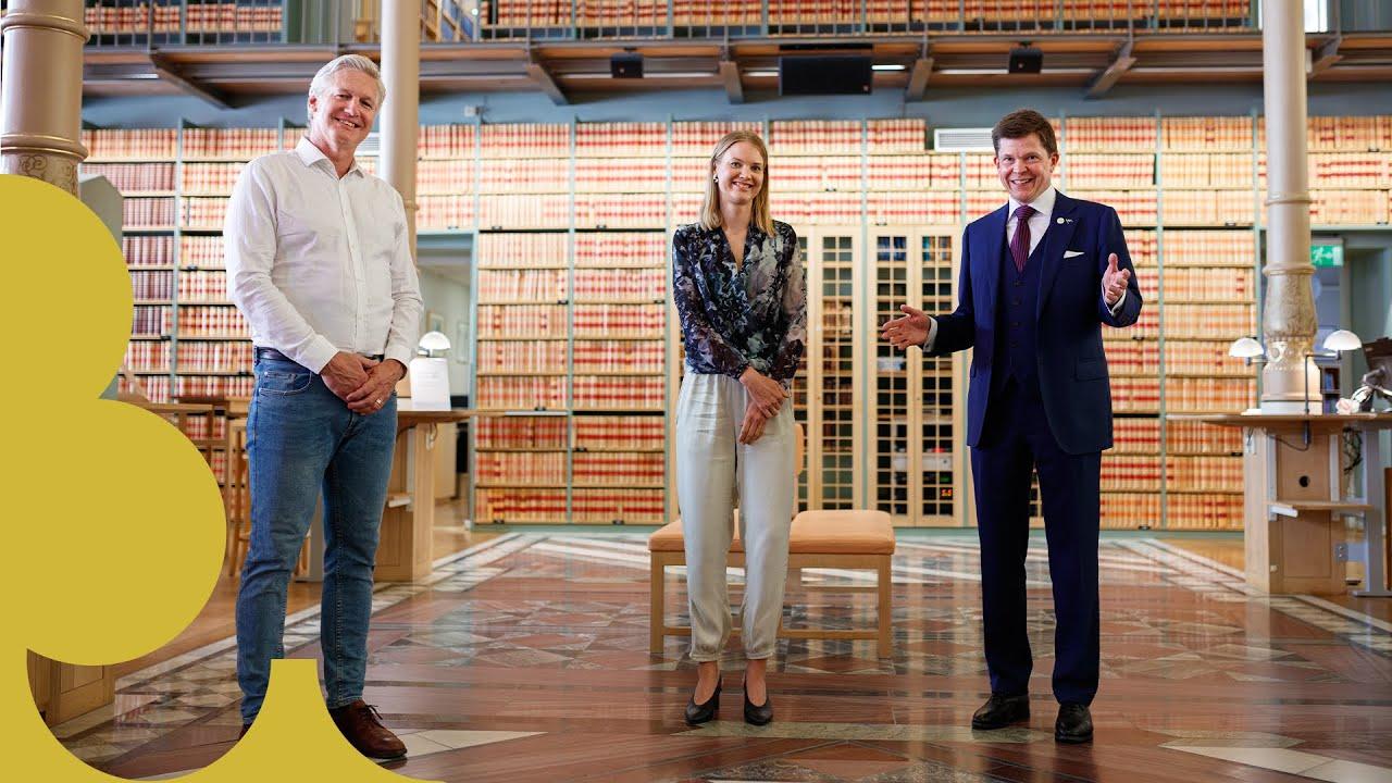 Ett digitalt samtal från Sveriges riksdag med rubriken Regeringsbildning i ett nytt politiskt landskap