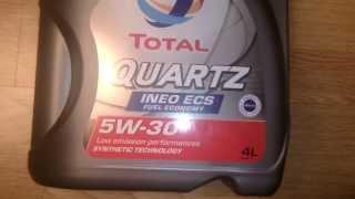 Моторное масло Total QUARTZ INEO ECS 5W-30. Обзор.