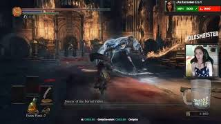 Gamer Girl Haunted by Ghost - Dark Souls 3 Trolling (Stream Sniping)