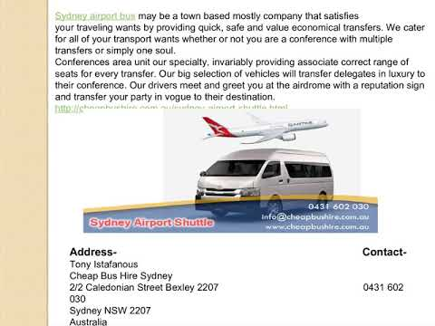 Get The Sydney Airport Shuttle By Cheap Bus Hire