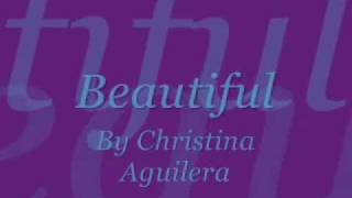 Christina Aguilera-Beautiful Lyrics