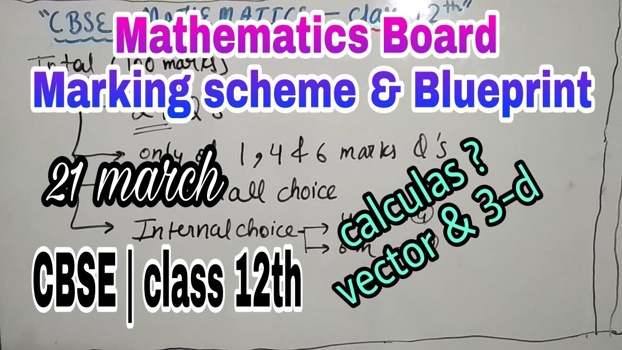 Maths marking scheme blueprint class 12 cbse board exam 2018 maths marking scheme blueprint class 12 cbse board exam 2018 malvernweather Gallery