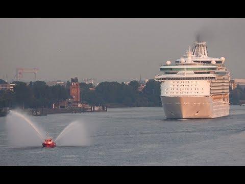 4K | Beautiful morning arrival | Maiden call NAVIGATOR OF THE SEAS at Hamburg