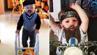 Kid Pranks! funny fake mustache compilation