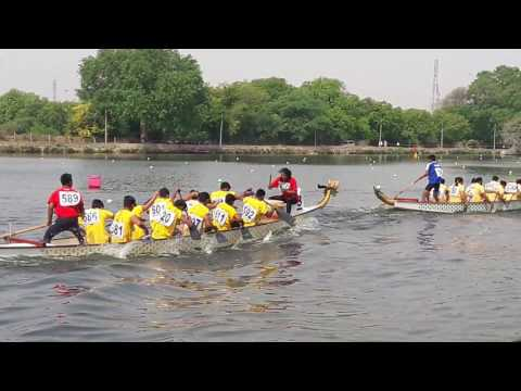 Dragon Boat competition for the first time Gauri lake in Bhind
