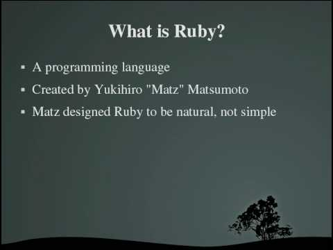 Programming With Ruby Tutorials