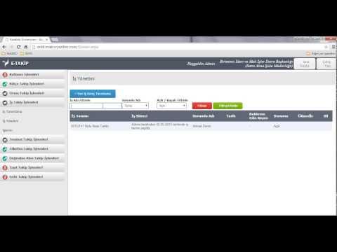 Makro E-Takip Yazılımı - İş Takip