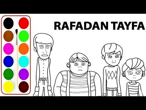 Yeni Rafadan Tayfa Boyama Sayfasi Rafadan Tayfa Ile Renkleri