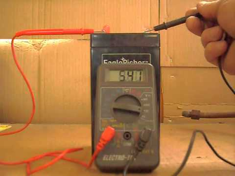 Testing 6 Volt Battery Voltage