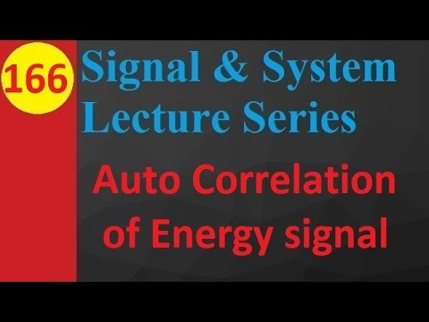 Auto correlation of Energy signal (Basics, Definition and Function)