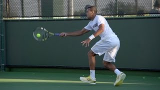 Jo-Wilfried Tsonga Forehand In Super Slow Motion - Indian Wells 2013 - BNP Paribas Open