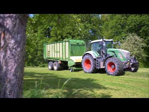 1. Schnitt 2018   8x Fendt beim Gras silieren   Daniel Späth