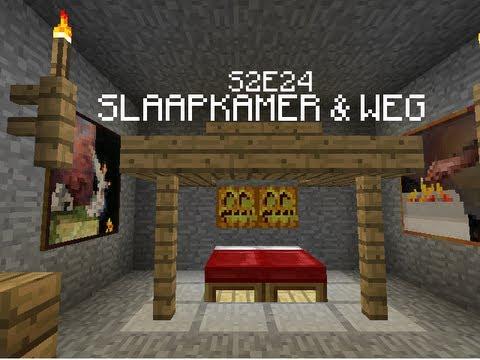 minecraft survival - s2e24 - ''de weg en de slaapkamer, Deco ideeën