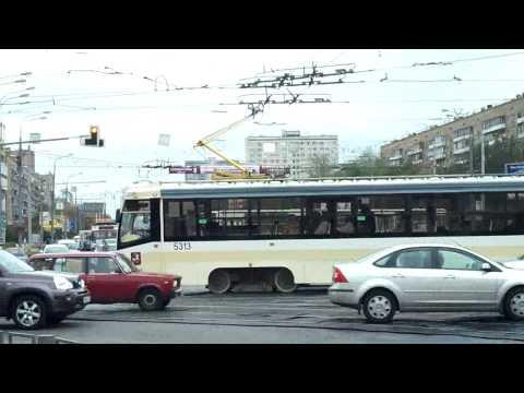 Trams in Moscow - Preobrazhenskiy Ploshad and Semenovskaya