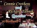 Jazz piano & alto sax Connie Crothers-Richard Tabnik Quartet