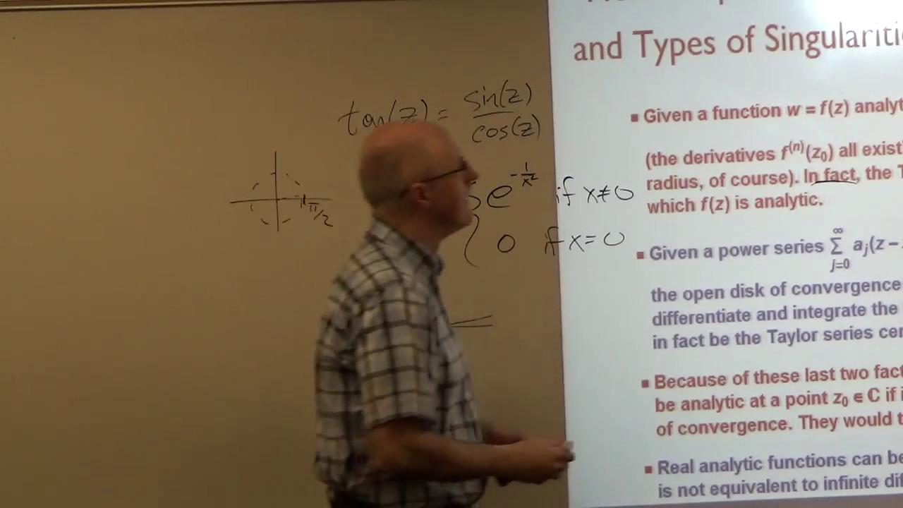 Intro Complex Analysis, Lec 34, Series, Zeros, Isolated Singularities,  Residues, Residue Theorem