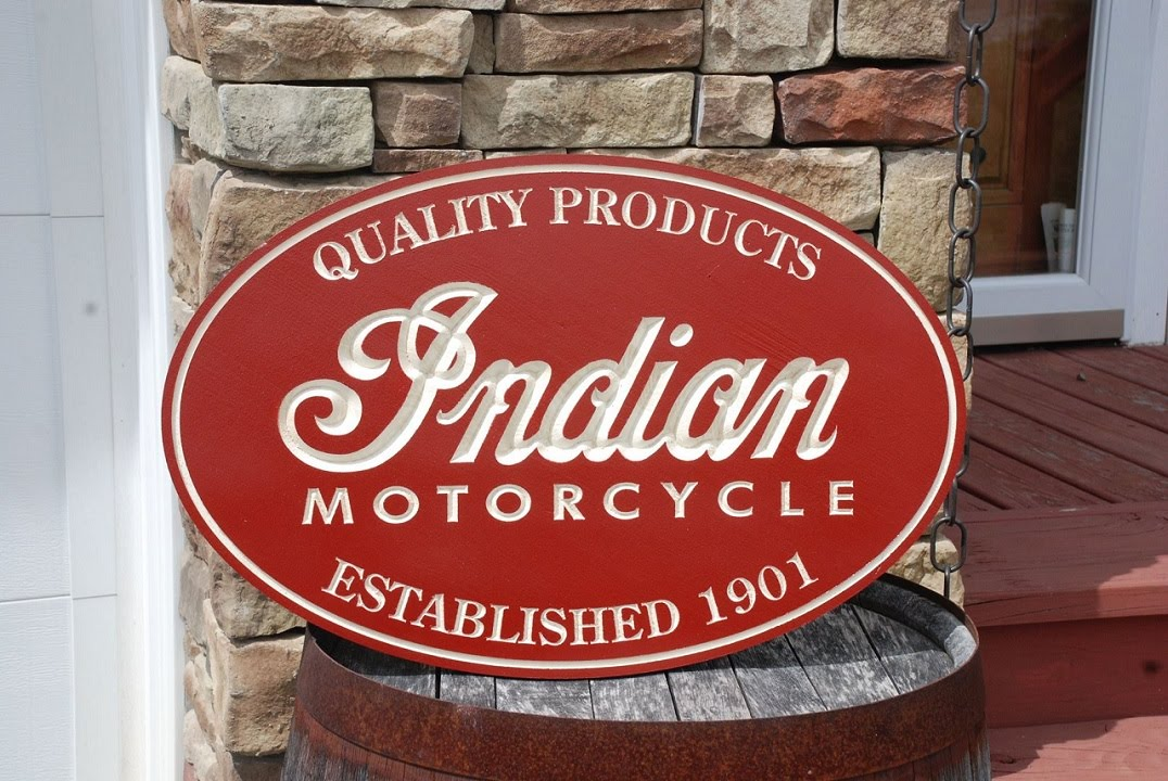 Indian Motorcycles 2015 >> Indian Motorcycle Sign - CNC Cut - YouTube