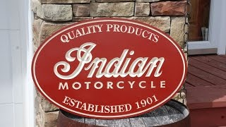 Indian Motorcycle Sign - CNC Cut