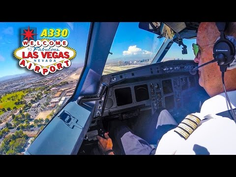 Piloting The Airbus A330 Into Las Vegas