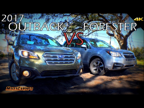 Ultimate Comparison: 2017 Subaru Outback vs Forester
