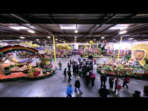 2012 Rose Bowl Floats - Video Time Lapse