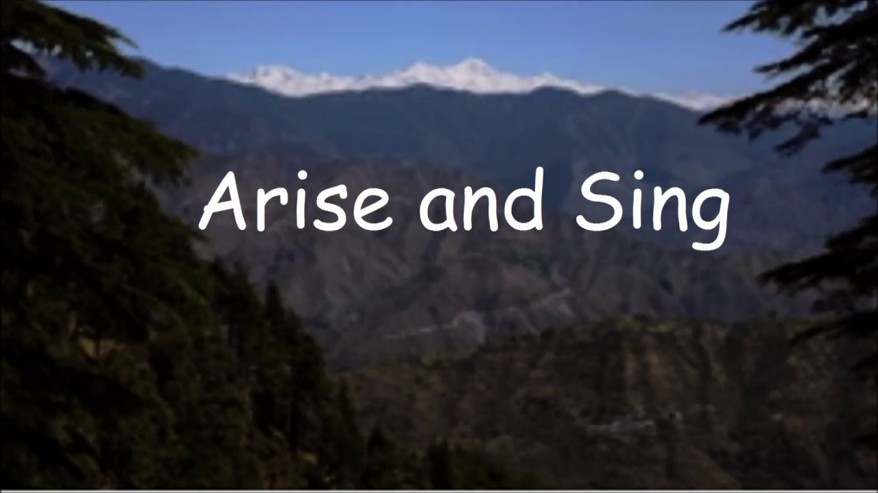 BRENTON BROWN - ARISE AND SING LYRICS